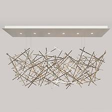 Criss Cross Linear Chandelier Light