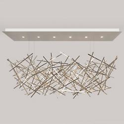 Criss Cross Linear Chandelier