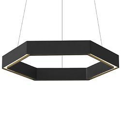 Hex LED Pendant (Black) - OPEN BOX RETURN