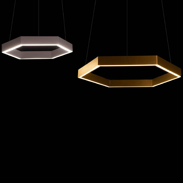Hex 750 Brass LED Pendant