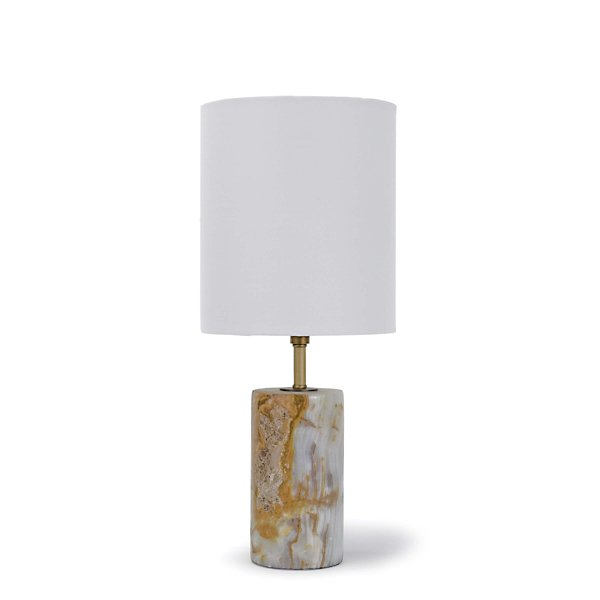 Jade & Brass Mini Cylinder Lamp