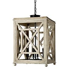 Wood Lattice Pendant Light