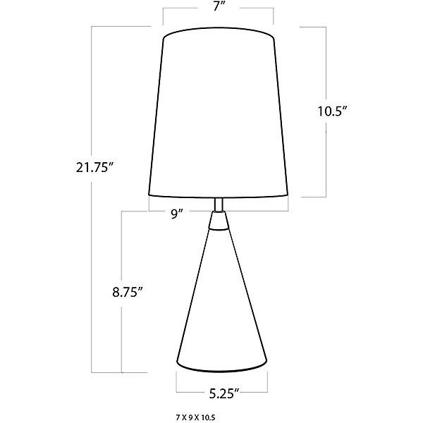 Concrete Mini Cone Lamp