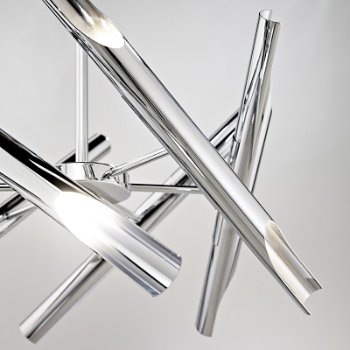 Shown in Chrome finish, 6 Arms