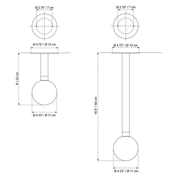 Ballino Semi-Flushmount