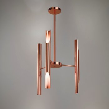 Shown in Polished Copper finish, straight configuration