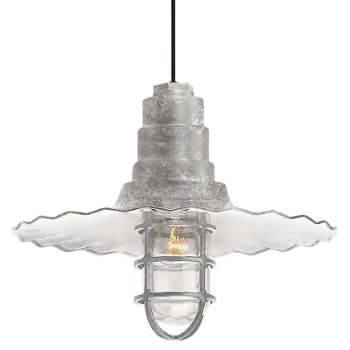 Radial Wave Outdoor Pendant w/ Cast Guard &