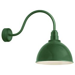Deep Reflector Outdoor Wall Sconce (Green/12/23) - OPEN BOX
