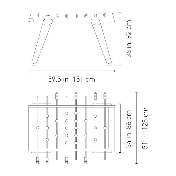 RS3 Wood Football Table