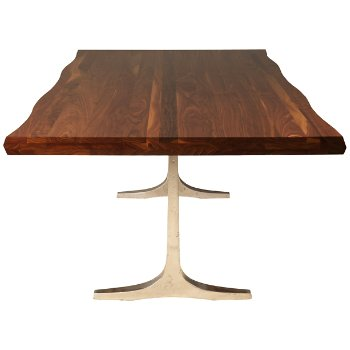Apollo Walnut Dining Table, Side view