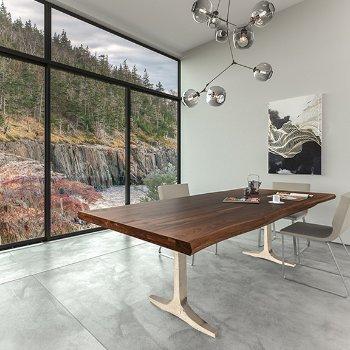 Apollo Walnut Dining Table, Application shot