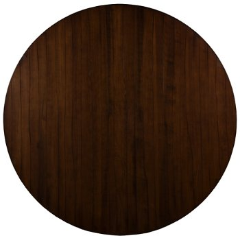 Shown in Etched Round with Walnut finish
