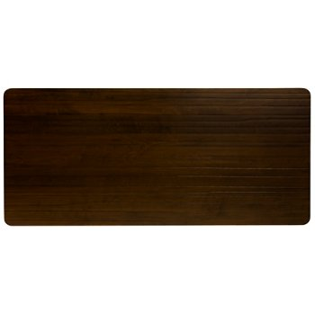 Shown in Strata Rectangle with Walnut finish