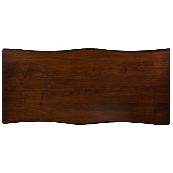 Shown in Wave Edge Rectangle with Walnut finish