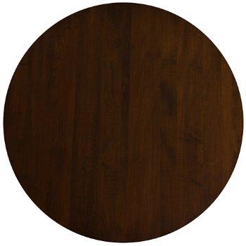 Shown in Walnut finish, Round size