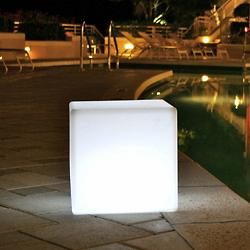 Cube Sharp Bluetooth LED Side Table