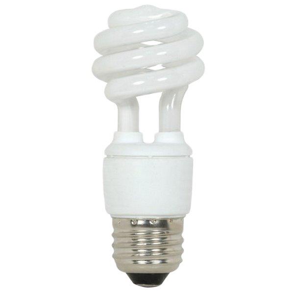 9W 120V T2 E26 Mini Spiral CFL Bulb