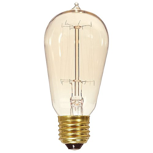 60w 120v st19 e26 squirrel cage edison bulb by satco lighting at