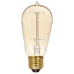 60W 120V ST19 E26 Squirrel Cage Edison Bulb