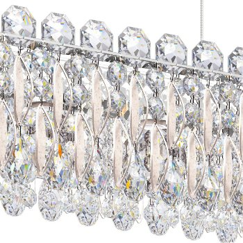 Shown in Antique Silver finish, Heritage Crystal Type