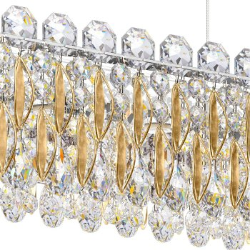 Shown in Heirloom Gold finish, Heritage Crystal Type