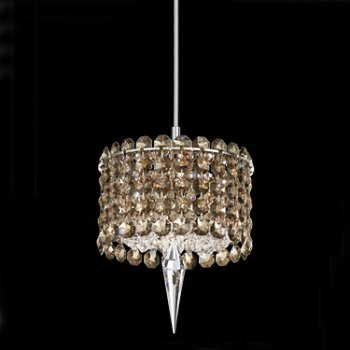 Matrix Cylindrical Pendant with Crystal Accent