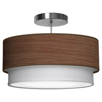 Shown in Walnut Stained Veneer shade, 16 Inch