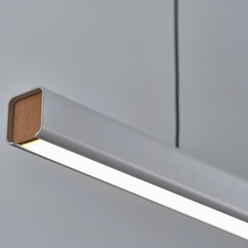 Shown in Matt Pure White with Beech finish, detail view