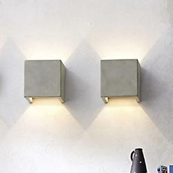 Castle LED Square Wall Sconce (Concrete) - OPEN BOX RETURN