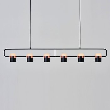 Shown in Matt Black and Copper