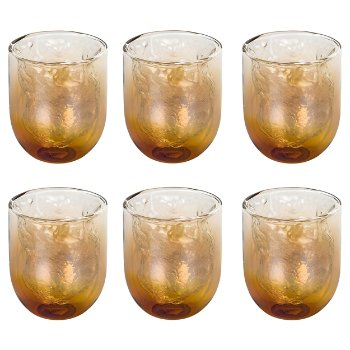 Cosmic Diner Meteorite Glasses Set of 6, Small size