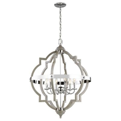 socorro 6 light foyer chandelier by sea gull lighting at lumens Boat Lift Wiring Diagram shown in washed pine finish