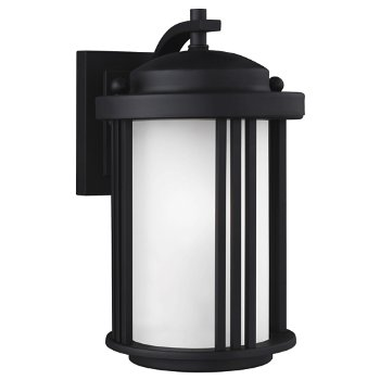 Shown in Black finish with Satin Etched Glass, Small size, unlit