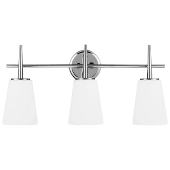 Shown in Chrome finish, 3 Light