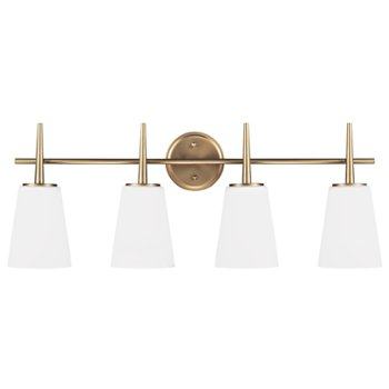 Shown in Satin Bronze finish, 4 Light