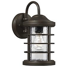 Sauganash Outdoor Wall Sconce with Clear Seeded Glass