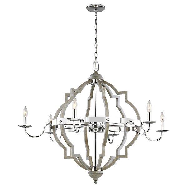 socorro 6 light chandelier