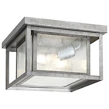 Hunnington Outdoor Flushmount with Clear Seeded Glass
