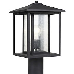 Hunnington Outdoor Post Light with Clear Seeded Glass