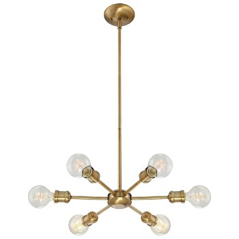 Shown in Natural Brass finish, lit