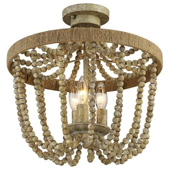 Shown in Natural Wood / Rope finish, lit