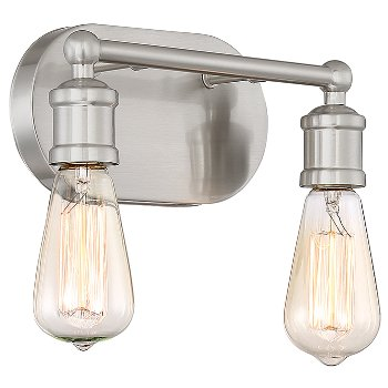 Shown in Brushed Nickel finish, 2 Light