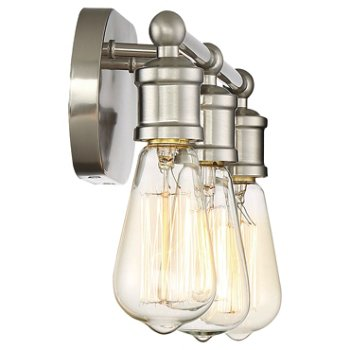 Shown in Brushed Nickel finish, 3 Lights