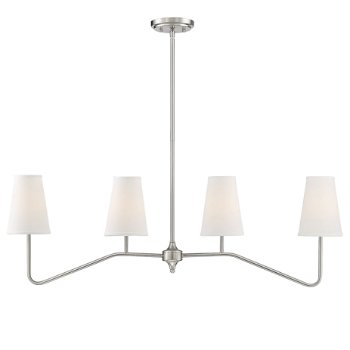 Shown in Brushed Nickel finish, lit