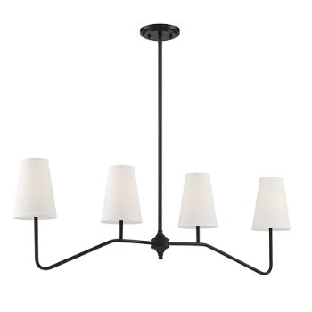 Shown in Oil Rubbed Bronze finish, lit