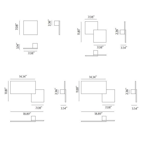 Puzzle LED Wall/Flushmount