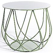 RESÖ Side Table, Crossed Bars