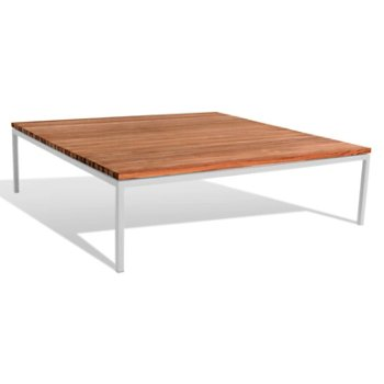 Shown in Teak top with Light Grey base finish, 41-Inch