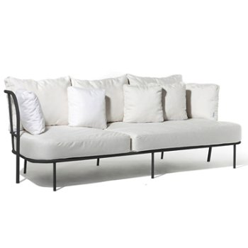 Shown in Natural White Sunbrella fabric with White frame finish