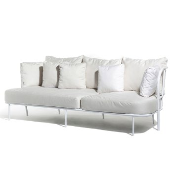 Shown in Natural White Sunbrella fabric with White frame finishY